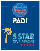 PADI 5 stars dive center resort